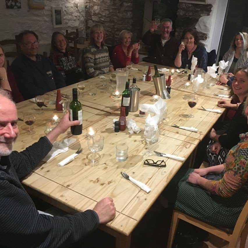 Lovely supper last night at cafe 35, Solva to celebrate the end of our first season. Who would have thought there were so many of us! Thanks team and supporters!